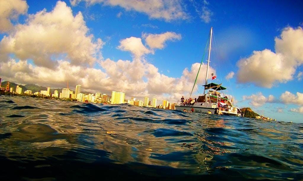 "40ft ""Kahala Kai"" Luxury Private Catamaran Charter In Honolulu, Hawaii"