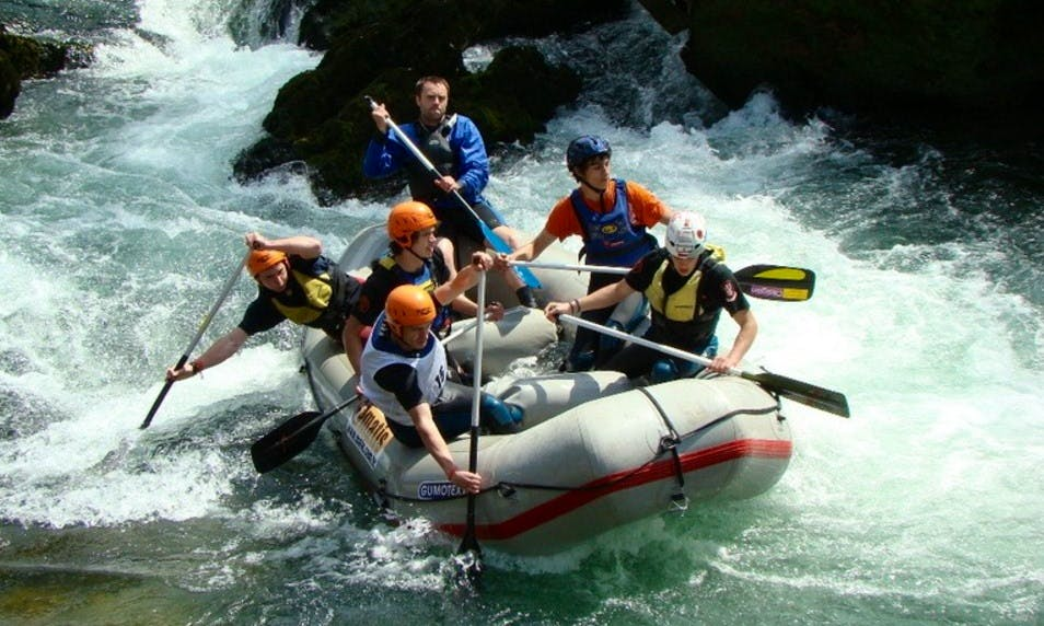 Rafting on River Korana in Slunj, Croatia