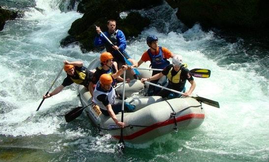Rafting On River Korana In Slunj, Croatia