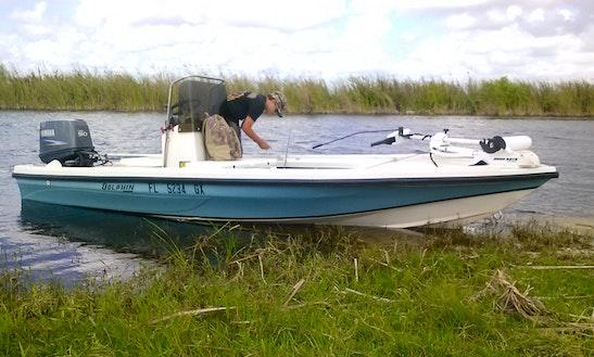 Bass Fishing On 24' Center Console In Okeechobee, Florida