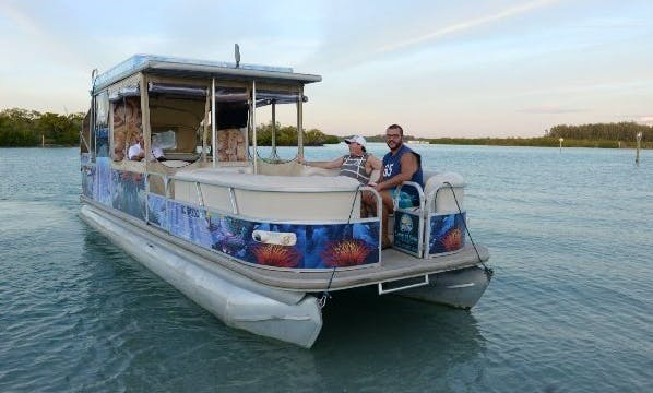 "Charter 30ft Pontoon ""The H2O Limo"" in Englewood, Florida"