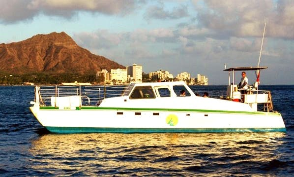 Charter 40' Power Catamaran In Honolulu, Hawaii