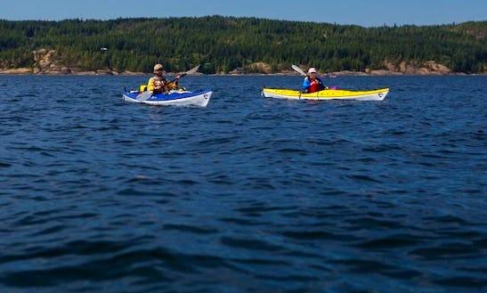 Enjoy Single Kayak Tours At Saratoga Beach, British Columbia