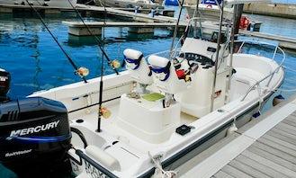 High Quality Boston Whaler 190 Outrage For Charter In Calheta Marina Madeira Island.