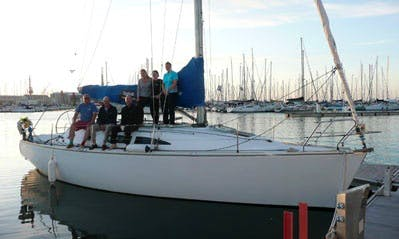 Sailing Lessons in Gosport, England on 37' Cruising Monohull