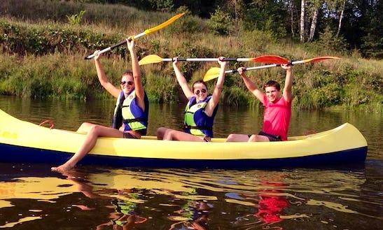 Enjoy Triple Canoe Trips In Jaunzāģeri, Latvia