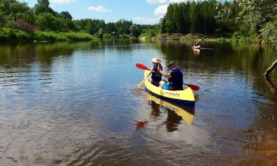 Enjoy Double Canoe Trips In Jaunzāģeri, Latvia