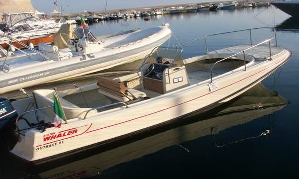 Rent 21' Rigid Inflatable Boat in Villanova, Italy