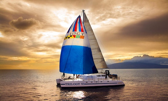Charter 50ft 'trilogy Vi' Sailing Catamaran In Lahaina, Hawaii