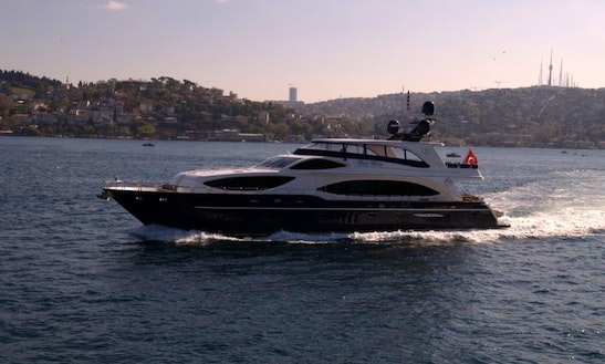 Charter 105' Power Mega Yacht In Istanbul, Turkey