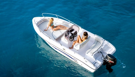 Rent A Ranieri Center Console In Dassia, Greece