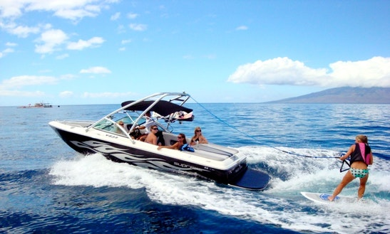 Enjoy Wake Sports & Snorkeling Adventures On 23ft Ski Supreme In Lahaina, Hawaii