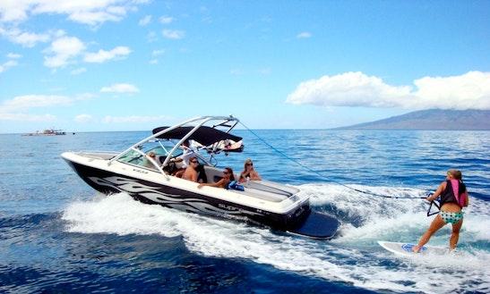 Enjoy Wake Sports & Snorkeling Adventures On 23ft Ski Supreme In Lahaina, Hawaii