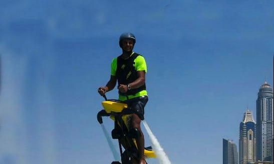 Fun Jetovator Ride In Dubai, Uae