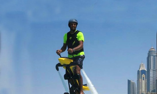Fun Jetovator Ride In Dubai, Uae