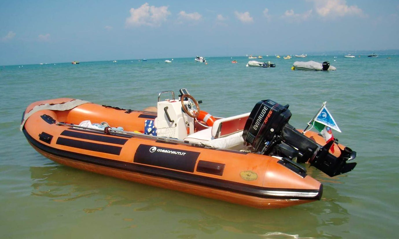 Rent 16' Gommorizzo 450 Rigid Inflatable Boat in Villanova, Italy