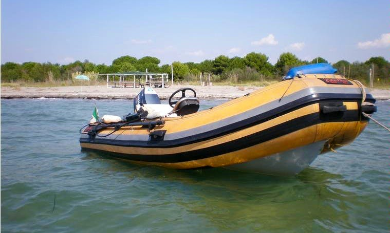 Rent 16' Rigid Inflatable Boat in Villanova, Italy