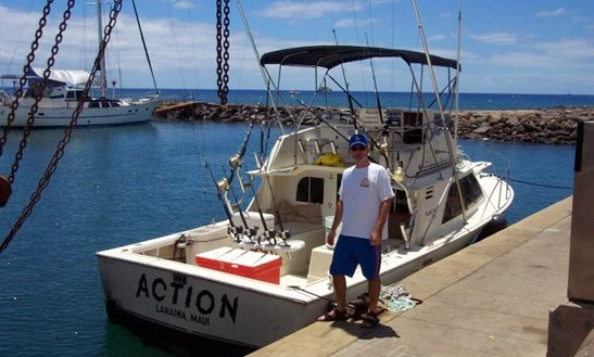 Bertram 37 start me up sport fishing charter in maui for Maui fishing charter