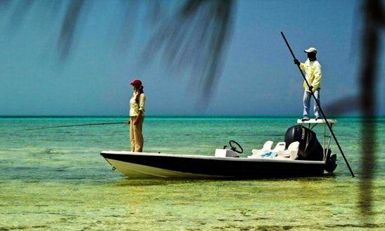 Bone Fishing Charter In Mangrove Cay, The Bahamas With Capt Mark