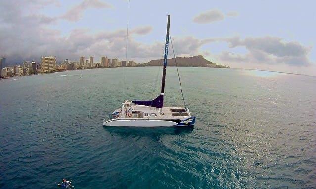 Enjoy 65 ft Luxury Catamaran Charter in Honolulu, Hawaii