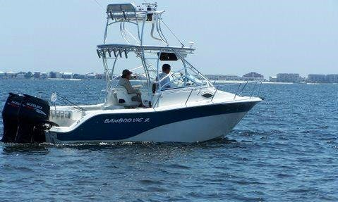 """Rent this 25ft """"Bamboo Vic II"""" Fishing Boat in Pensacola, Florida"""