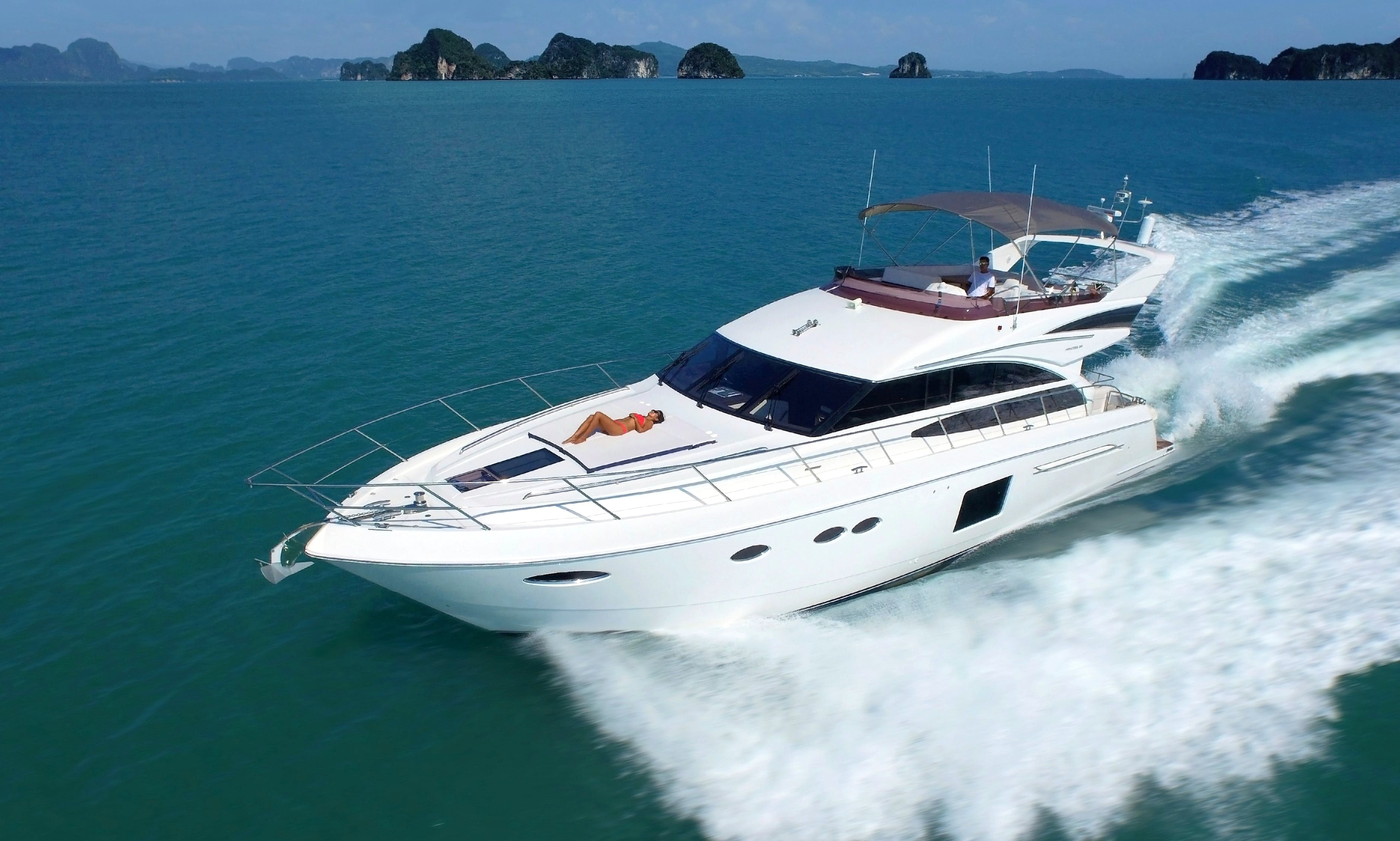 Princess P64 Motor Yacht Charter for Up to 18 People in Phuket, Thailand