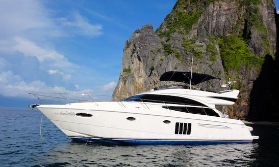 Princess 60 Wp Power Mega Yacht For 14 Person Available To Charter In Thailand