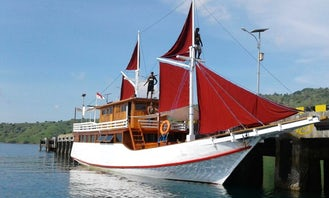 Phinisi Boat for 8 People in Komodo for minimum of 2 days or week - Crewed Charter!