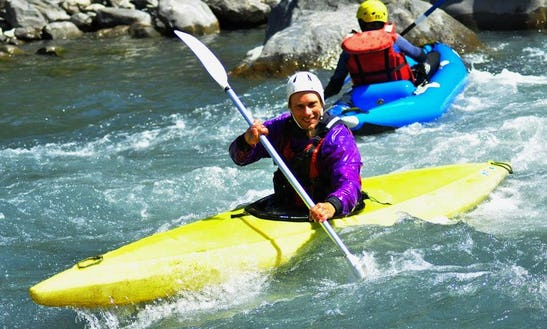 Enjoy Single Kayak Tours On Ubaye River In Le Lauzet-ubaye, France