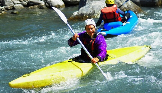 Enjoy Single Kayak Tours On Ubaye River In Le Lauzet-ubaye, France