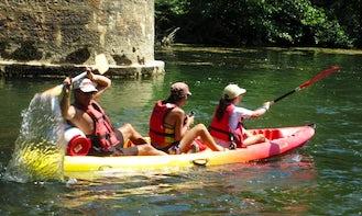 Sit-on-Top Triple Kayak Rental in Saint-Guilhem-le-Désert, France
