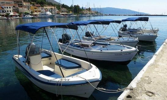 Rent A 25 Hp Boat In Agia Effimia, Grrece