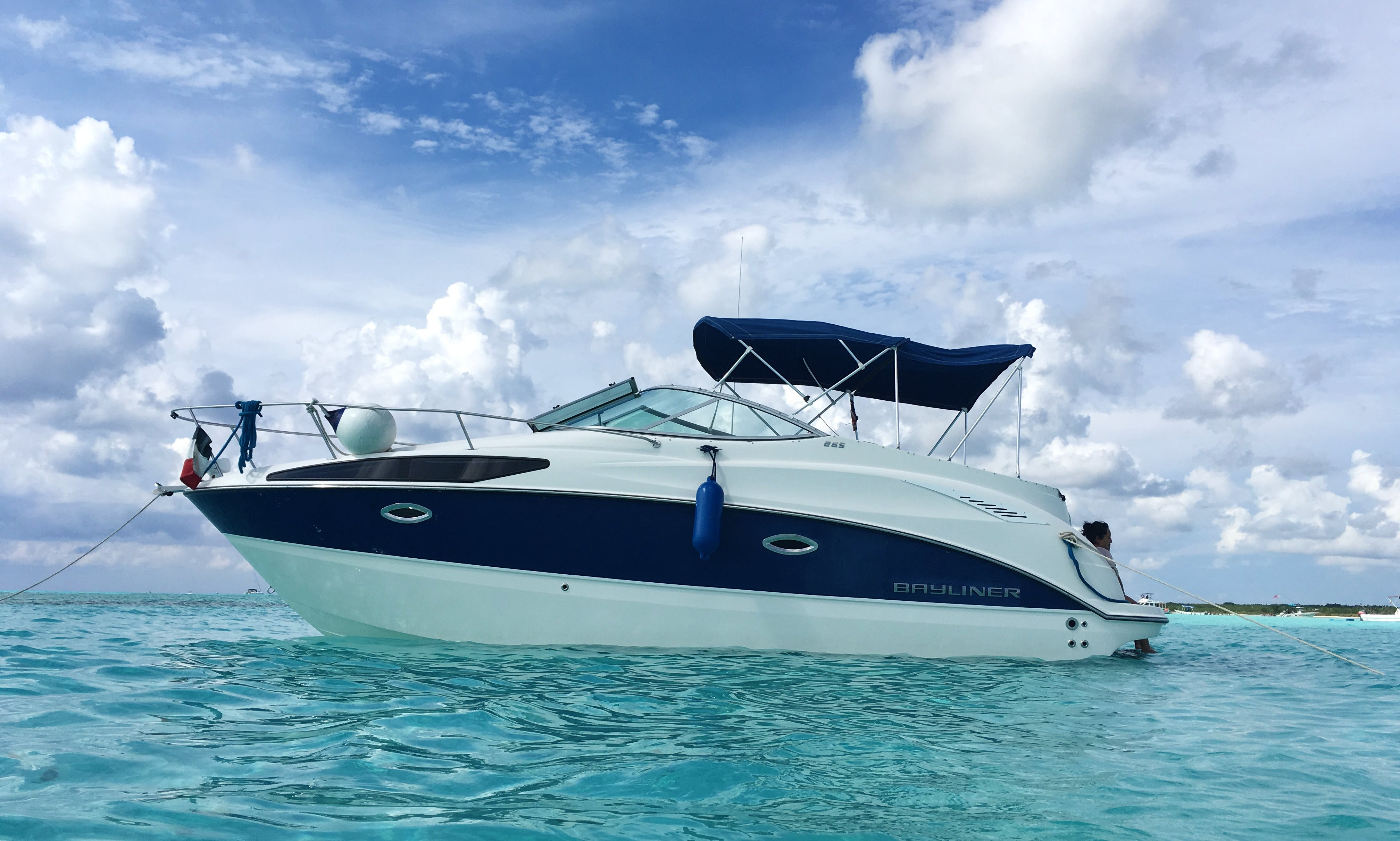 29' Bayliner Cuddy Cabin In Cozumel, Mexico.