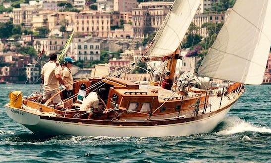 Charming Sailing Boat In The National Park Of La Maddalena