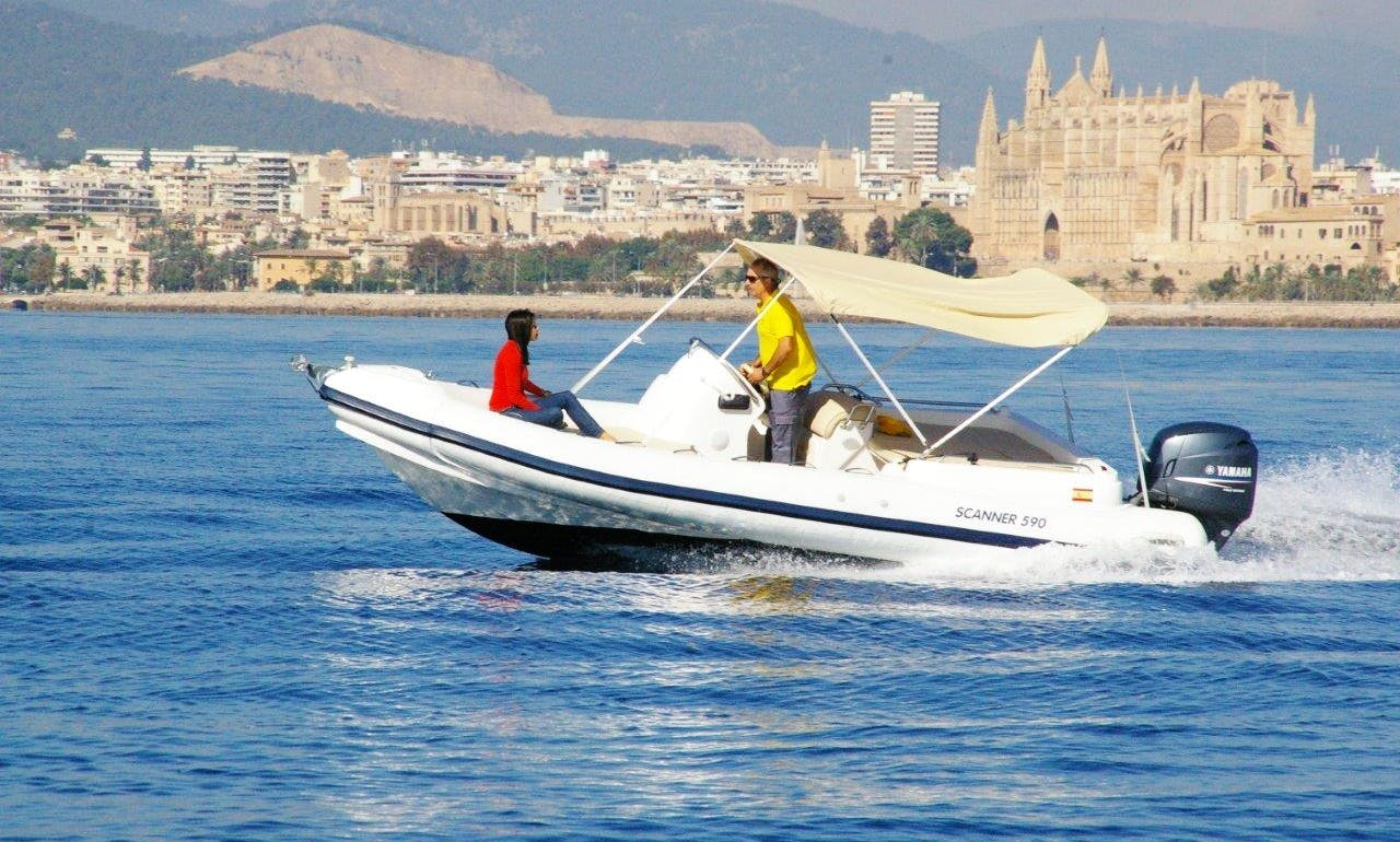 Rent 2008 Scanner 590 RIB in Palma, Spain