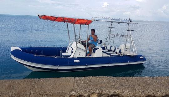 Enjoy Private Tours On 24' Zodiac Rib In Haapiti, French Polynesiain