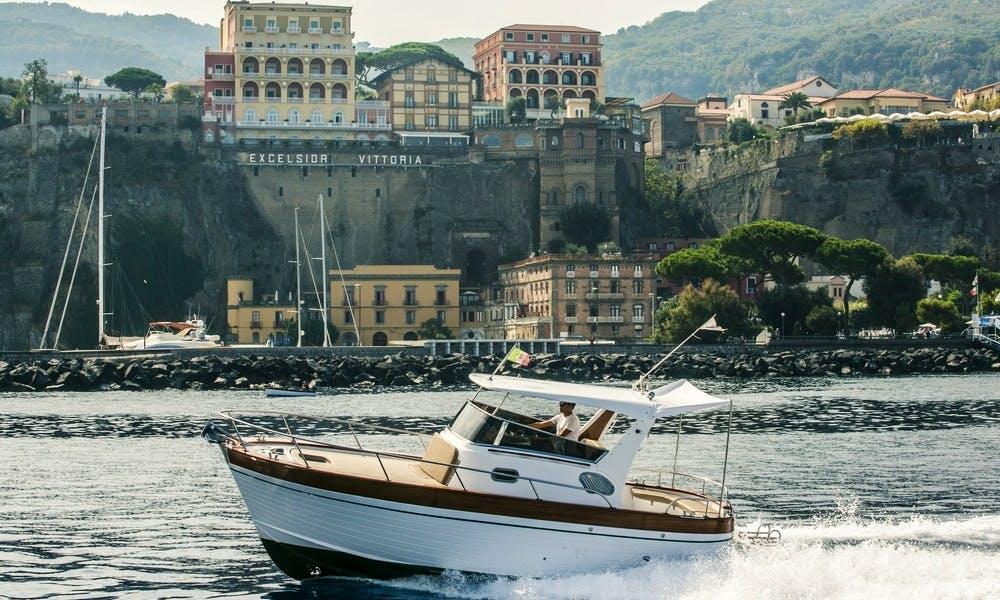 25' Sparviero Emerald Cuddy Cabin Rental In Sorrento, Italy