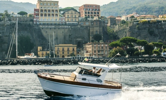 25' Sparviero Emerald Cuddy Cabin Rental In Sorrento, Italy