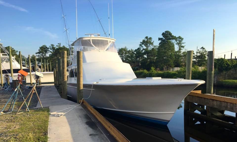 Enjoy 58ft Sport Fisherman Sea Breeze Fishing Charter In