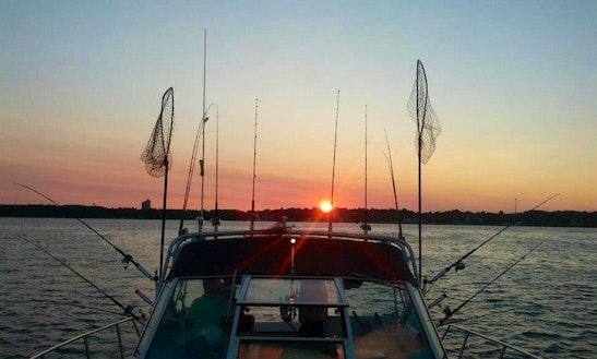 31' Sport Fisherman Charter In Williamsburg, Michigan