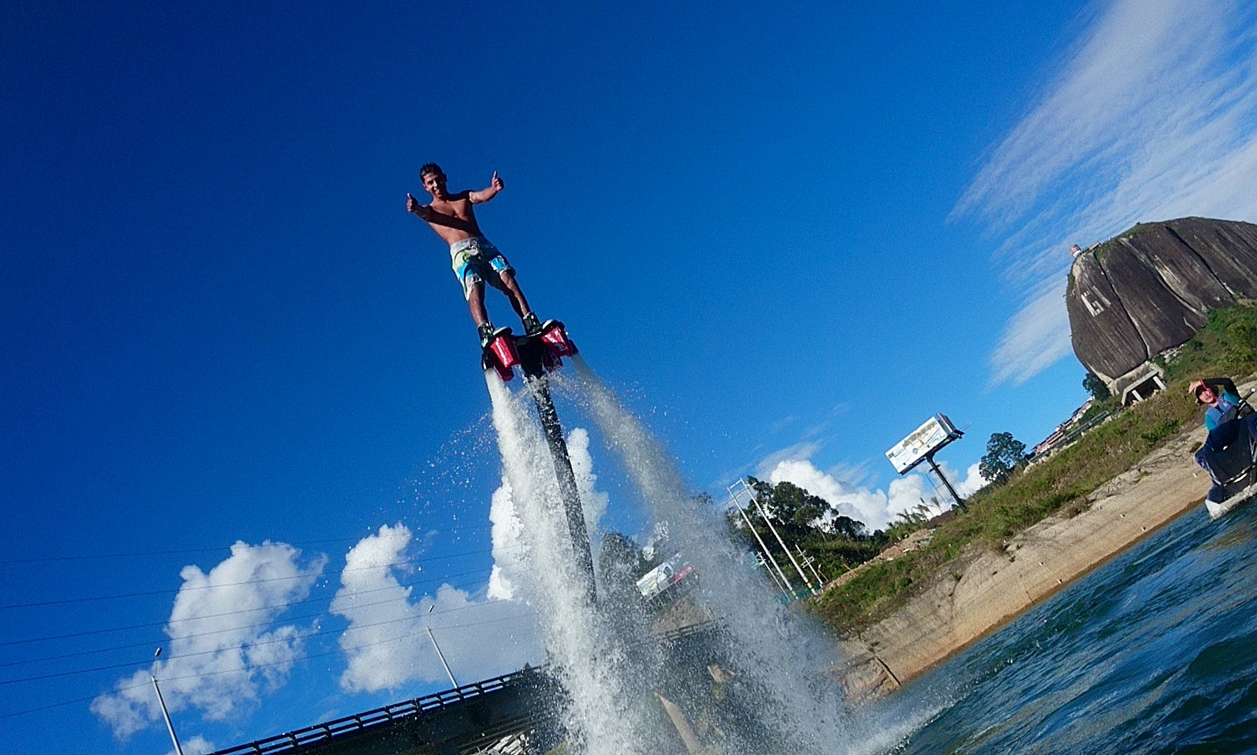 Experiences the thrill of Flyboarding in Antioquia, Colombia