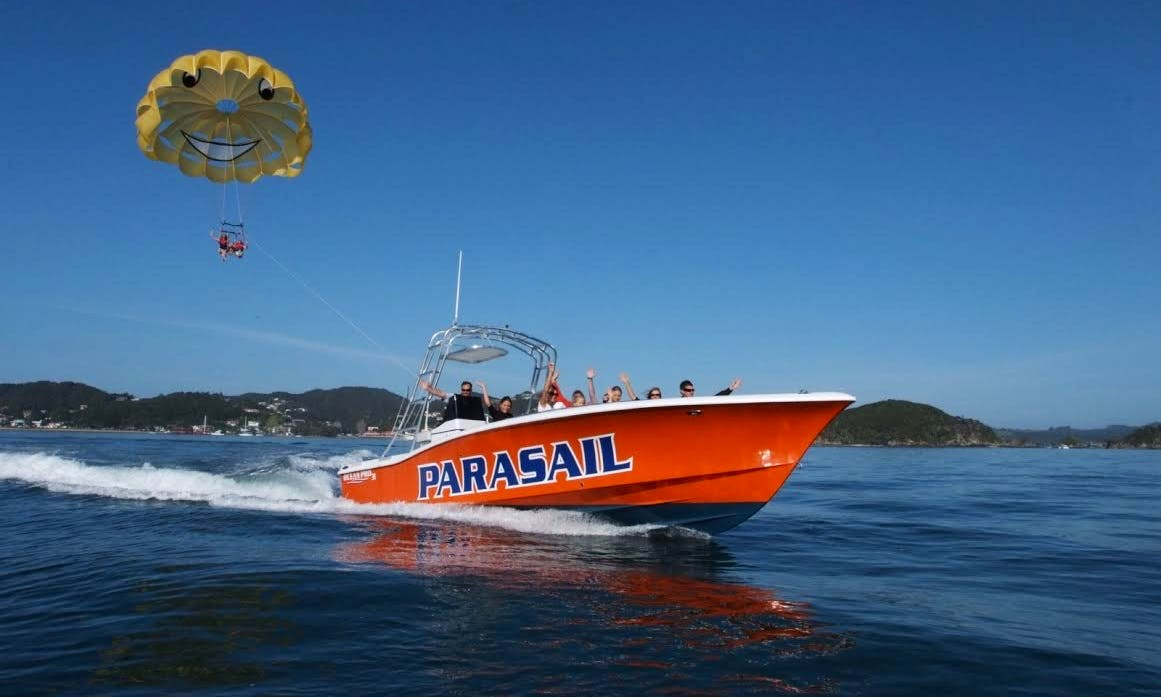 Enjoy Parasailing in the Bay of Islands, New Zealand