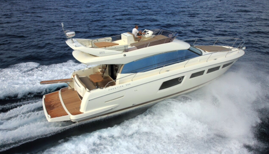 Captained Charter On 50' Prestige Jeanneau Motor Yacht In Tuscany, Italy
