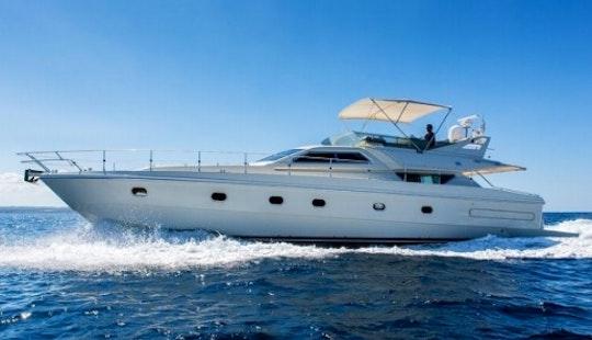 59ft Ferretti 175 Fly Motor Yacht Charter In Pollença, Spain