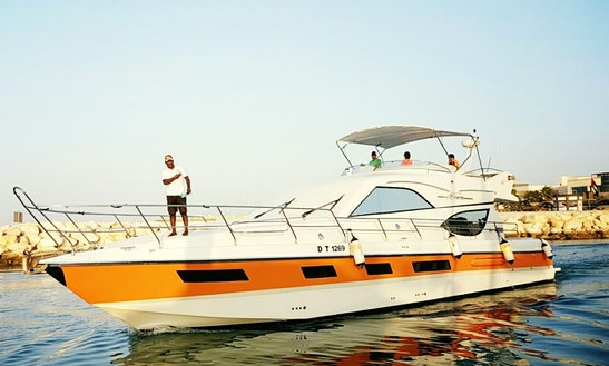 Enjoy Cruising Along The Arabian Sea Aboard 70ft Power Mega Yacht
