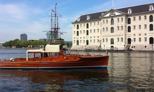 Exclusive Boat Tour In Amsterdam On Kaprifolia Classic Saloon Boat