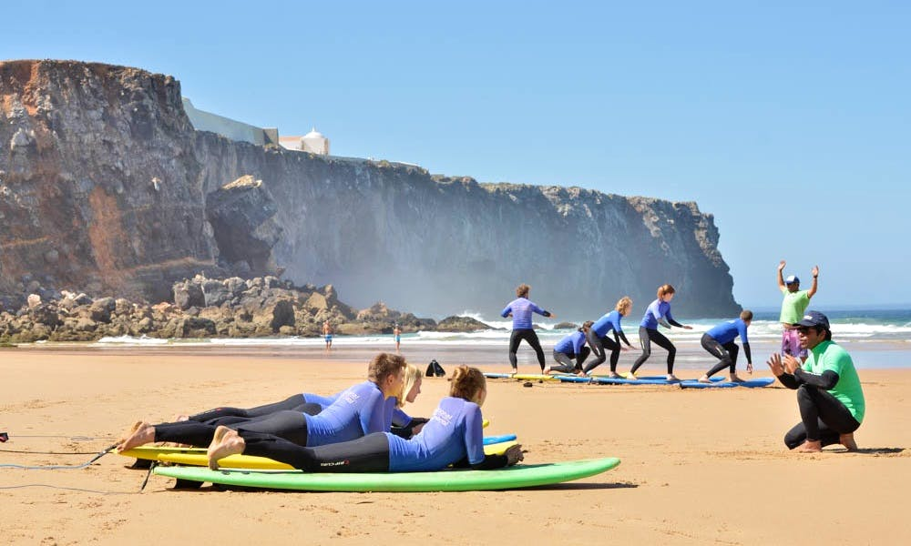 Surf Lessons in Sagres, Portugal