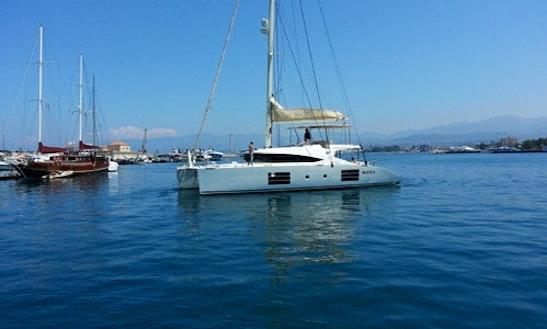 Charter The Nyx 565 One Luxury Sailing Catamaran In Milazzo, Italy