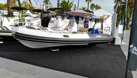 Rent The 15' Rigid Inflatable (2017) - Tarpon Boats 470+50 Hp Evinrude E-tec, In Platja D'aro, (costa Brava - Spain).