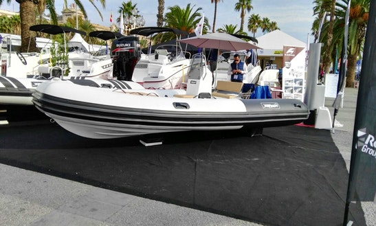 Rent The 15' Rigid Inflatable (2017) - Tarpon Boats 470+50 Hp Evinrude E-tec, In Platja D'aro, (costa Brava - Spain).